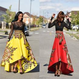 Canada Été Longue Maxi Jupe Pour Femmes Dames Vintage Boho Tribal Africaine Jupe Imprimée De Mode Parapluie irrégulière Grande Jupe De Balançoire DHL FJ179 Offre
