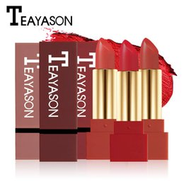 red stick pen Coupons - TEAYASON Brand Waterproof Matte Lipstick Pen For Women Long Lasting Batom Dark Red Velvet Balm Rouce a Levre Natural Makeup Lip Stick