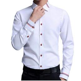 2019 мужские белые свадебные рубашки Top Quality  Mens Dress cotton Shirt men Slim Fit Long Sleeve wedding shirt male casual business white chemise homme дешево мужские белые свадебные рубашки
