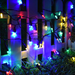 Lâmpada da árvore do xmas on-line-Natal Luzes Da Corda Solar 50 LED 7 m com 2 Modos de Iluminação Da Lâmpada para a Casa Interior Ao Ar Livre Caminho Pátio Xmas Tree Party Fair