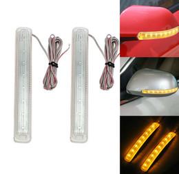 2019 universelle blinkerleuchten 2x 12V LED Auto-Blinker-Licht Auto Rückspiegel Anzeigelampe Schutzleiste Blinken Universal Gelb Lichtquelle KKA6505 rabatt universelle blinkerleuchten