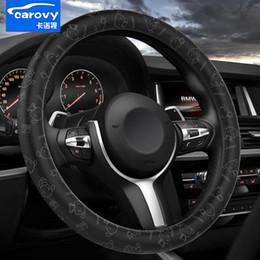 velhas rodas de direção do carro Desconto Tampa do volante do carro da moda PU de Couro de 15 polegadas envoltório apertado envoltório padrão de impressão 3D respirável