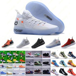 kevin taille des chaussures de basket-ball durant Promotion Hommes Baskets Nouveau Zoom KD 11 EP Blanc Orange Mousse Rose Paranoid Oreo ICE Chaussures De Basketball Original Kevin Durant XI KD11 Baskets Taille 7-12
