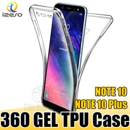 iphone ganzkörper transparent Rabatt 360 Grad Full Body Cover Hülle Vorne Hinten Weicher TPU Clear Protector für Samsung NOTE 10 Plus S10 A70 A30 iPhone 11 2019