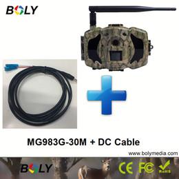 2019 controllo della telecamera sms MG983G con cavi cc 30MP telecamere wireless GPRS MMS cellulari 3G telecamere di caccia IR invisibile e 100 piedi nero IR gioco