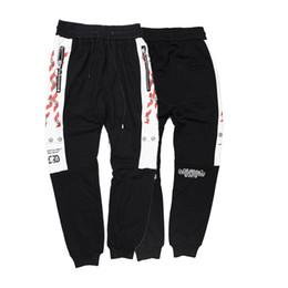 2019 calças brancas Calças calças dos homens do esporte branco off marca calças de Jogging designer de Calças soltas de luxo de alta qualidade nasa homem De Algodão calça de Fitness medusa desconto calças brancas