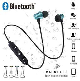 2019 magnetische ladekabel samsung Magnetische Anziehungskraft Bluetooth Kopfhörer Headset Sweatproof Sport 4.2 mit Ladekabel Young Earphone Build-in Mic rabatt magnetische ladekabel samsung