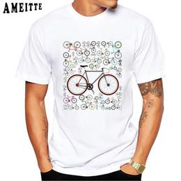 topos de impressão de bicicleta Desconto Amor Engraçado dos homens Fixie Estrada Bicicletas Impresso T Camisa amantes Da Bicicleta Projeto Menino T-Shirt Humor Verão Homens Tops Novidade O-pescoço Tees