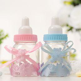 12 Adet / grup Plastik Şeffaf Ayı Şeker Kutusu Yaratıcı Düğün Şeker Kutusu parti Dekorasyon Hediye Kutusu Bebek Oyuncak Şeker Süt Şişesi Şekli BH2032 ZX cheap baby bottle candy nereden bebek şişesi şekerleme tedarikçiler
