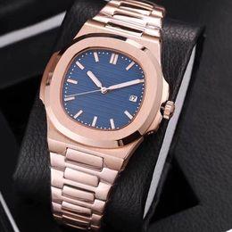2019 reloj de goma china 19 colores reloj para hombre movimiento automático Glide segunda mano cristal de zafiro oro rosa relojes reloj de pulsera de calidad PATEK PHILIPPE
