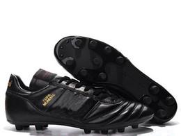 Gran fútbol anaranjado online-big boy Copa Zapatos de fútbol Botines de fútbol con descuento Botas de fútbol de la Copa Mundial 2015 Tamaño 39-45 Negro Blanco Naranja botines futbol