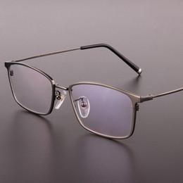 designer óculos quadros para homens Desconto Titanium Óculos de alta qualidade Praça Homens óculos de prescrição óculos Moldura Completa Designer frame ótico 910