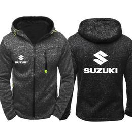 2019 sport suzuki Suzuki hoodie Auto Logo Print Männer Sport Tragen männer Mit Kapuze hoodie Reißverschluss Sweatshirt Männlichen Hoody Herbst Mantel Frühling Hoodies Strickjacke Mantel günstig sport suzuki