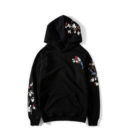 sweatshirt chinesisch Rabatt Chinesische Art-Blumen-Stickerei-Frauen-Modedesigner-Sweatshirt-Pullover-lange Hülsen-regelmäßige Kapuzenpulli-beiläufiges Paar-Kleid