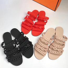 2019 zapatillas de boda zapatos Sandalias de diseño de alta calidad para mujer Sandalias Con Chaine d'Ancre Sandalias Slip Flip Flop Zapatillas de fiesta Zapatos de boda con caja US11 rebajas zapatillas de boda zapatos