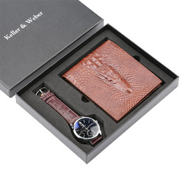 Business Mens Watches Wallet Gift Set For Men Quartz Watch Casual Leather Wristwatch Reloj Masculino Best Birthday