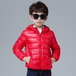 kind weißer mantel Rabatt 2019 Neue 90% weiße Entenfeder Ultraleichte Jungen Daunenjacke mit Kapuze für Kinder Herbst Winter Daunenjacke für Jungen Baby Oberbekleidung