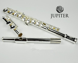 Taiwan JUPITER JFL-511ES 16 Furos Fechados C Chave Flauta Cuproníquel Silvering flauta instrumentos transversais musicales Caso de