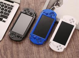 2019 romantik curl haare 10pcs PMP X9S beweglichen Handvideospiel-Konsolen-Spieler 5.1inch Screen-Quad-Core-8GB / 16GB Klassisches PSP Arcade Spiele Laden TV Out
