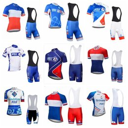 white waterproof clothing Coupons - 2019 FDJ Cycling team Clothing Bike jersey Quick Dry Mens Bicycle clothes short sleeves pro Cycling Jerseys Gel Bike Shorts Set K012107