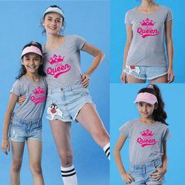2020 camisetas de bebé mamá a juego Familia Mismo vestido de los niños de los bebés de las mujeres Mom Daughter familiares Matching T Shirts Ropa Tee Tops rebajas camisetas de bebé mamá a juego