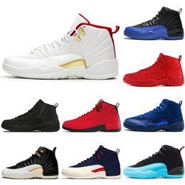 2019 jogos originais 2019 Original FIBA 12 12 s Sapatos de Basquete Homens Jogo Real Ginásio Vermelho Branco Touros Gripe Jogo Michigan designer mens tênis esportivos Sapatilhas desconto jogos originais
