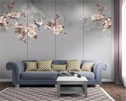 2019 dipinto di magnolia carta da parati di moda 3d carta da parati papel de parede nuovo cinese magnolia uccello dipinto a mano sfondo pittura decorativa carta da parati dipinto di magnolia economici