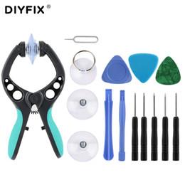 DIYFIX 13 em 1 Mobile Phone Repair Tool Kit Pry Abertura Ferramenta Alicate Chave de fenda Set para portáteis Ferramentas manuais Computer Telefone Definir de