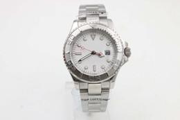 Senhoras relógios de prata on-line-boa Qualidade Senhoras Platina Yachmaster Platinum Index 169622 SANT BLANC Automático homem Assista Relógios