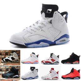 factory price 34e7c cba15 Nike Air Jordan 1 4 6 11 12 13 Haute Qualité 6 6s Infrarouge Carmine  Chaussures De Basket-ball Hommes 6s UNC Toro Lièvre Oreo Marron Bas Chrome  Sport Bleu ...