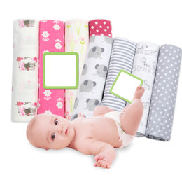 cobertores do bebê da flanela do algodão Desconto 4 pçs / lote cobertores do bebê recém-nascido fralda de musselina de algodão cobertor de Swaddle Swaddle para recém-nascidos Musselina Swaddle macio bebê envoltório cobertor