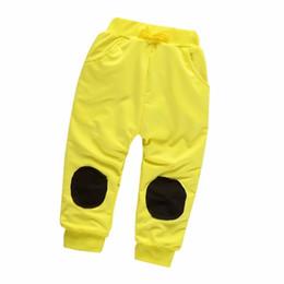 Argentina 2019 Nueva Moda Niños Niñas Venta al por menor Primavera Otoño Algodón Parche Pantalones de chándal Boy Casual Kids Pantalones 0 - 4 Años Suministro