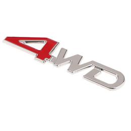 Alliage de zinc imperméable 3D '' 4WD '' décoration de voiture autocollant adhésif pour Universal Car Body Bumpter Auto Stickers à la mode ? partir de fabricateur