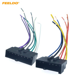 Rádios ford on-line-Stereo FEELDO 2PCS Car CD Rádio Áudio cablagem Plug Adapter para Ford Mustang 1987-1993 # 2957