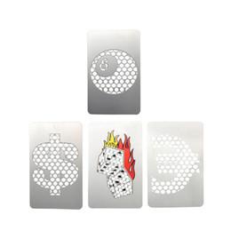 tarjeta de crédito de tamaño Rebajas Sindicato V Gran tamaño Metal Tarjeta de crédito Fumador de hierbas Molino de tabaco de acero inoxidable Clásico V 420 corazón y otros Diseño de molinillo