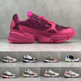 Nouveau Falcon W Rose Femmes Chaussures De Course Papa Chaussures Pour Femmes Falcons Designer Sport Sneakers Originals Jogging En Baskets En Plein