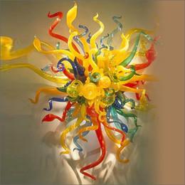 moderne stoffwandkunst Rabatt Modern Home Decorative Lampe Elegante und moderne Wandleuchten aus geblasenem Muranoglas mit Lampenschirm aus Stoff Vintage Sconces Wall Light