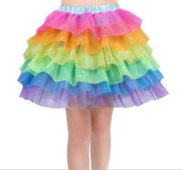 meninas fantasia vestidos Desconto Meninas Crianças Arco-íris Tutu Saia Unicórnio Festa Tutus Bebê Meninas Bolo 6 camada Pettiskirt Ballet Traje Extravagante Tutu Saia vestido LJJK1528