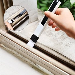 2019 spazzola di detersione Home Detachable Window Groove Spazzola di pulizia Multifunzione Duster Keyboard Cleaner Cucina Slit Cleaning Brush With Dustpan DH1273 spazzola di detersione economici