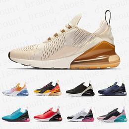 Zapatos ligeros de entrenamiento online-Nike Air max 270 airmax shoes  Marrón Hombres mujeres zapatos para correr Malla blanca South Beach SE Floral Petardo Entrenamiento Deportes Hombres Entrenadores Zapatos Zapatillas