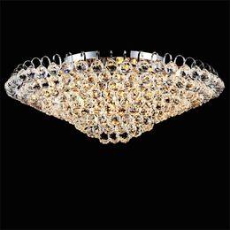 Argentina Candelabro de techo grande con 8 luces a ras de techo lleno de luz de bola de cristal transparente Suministro
