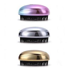 Massaggio arcobaleno online-Districa la spazzola per capelli Rainbow Head Massage Shampoo Brush Confortevole lavaggio dei capelli Pettine Bagno termale Spa Massaggi dimagranti spazzole GGA2482