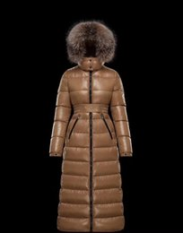Cuello de piel chaqueta delgada cintura online-chaqueta con capucha de las mujeres abajo color sólido grueso abrigo de invierno cálido invierno de la chaqueta de cintura cinturón súper abajo cuello de piel de las mujeres delgadas 2019 nueva TT9
