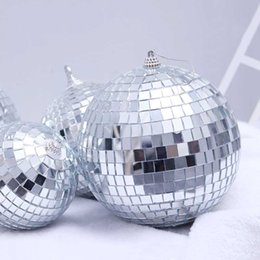 mirrored ball light Promo Codes - 1 6 12PCS Christmas Decorations Christams Balls New Year Decoration Mirror Balls Christmas Decor Xmas Ornaments