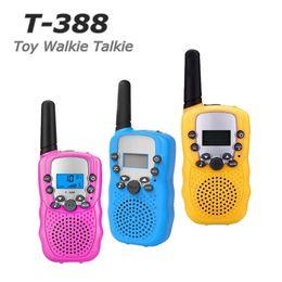 T388 Bambini Radio Giocattolo Walkie Talkie Bambini Radio UHF Radio bidirezionale T-388 Coppia Walkie Talkie per bambini per ragazzi e ragazze Regalo da