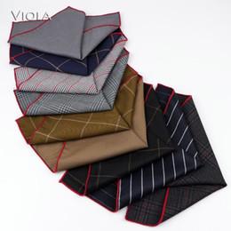 Listrado Sólidos lenço Terno tecido grosso bolso Square Classic elegante Lenço Men Tuxedo BowTie Acessório presente Outono-Inverno de Fornecedores de engrenagem camisas
