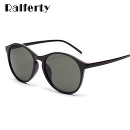 korea sunglasses Coupons - Ralferty Vintage Sunglasses Women 2019 New Brand Round Sun Glasses Black UV400 Coating Sunglass Retro Korea Female Oculos W19801