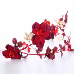 Coiffure de mariage fleur rouge mariage Mariage coiffure rouge Accessoires pour les photographies Accessoires de cheveux de mariée Cerceau cheveux ? partir de fabricateur