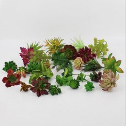 2020 gefälschte blumen vasen Neue Design-Kunstpflanzen mit Vase Bonsai Tropical Kaktus Gefälschte Sukkulente Topf Office Home Dekorative Blumentopf günstig gefälschte blumen vasen