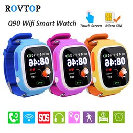 baby tracker child Promo Codes - Q90 Smart Watch With GPS Phone Positioning Touch Screen WIFI SOS Fitness Tracker For Children Kids Baby Smartwatch